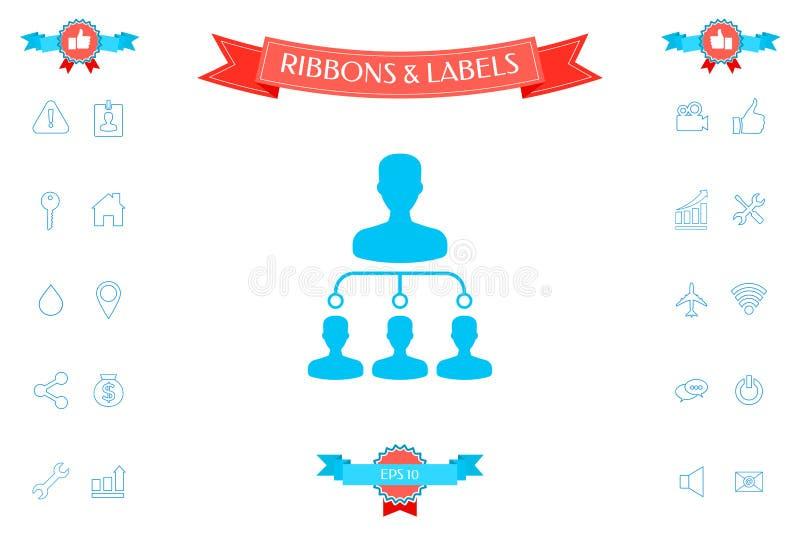 Symbole d'icône de hiérarchie illustration de vecteur
