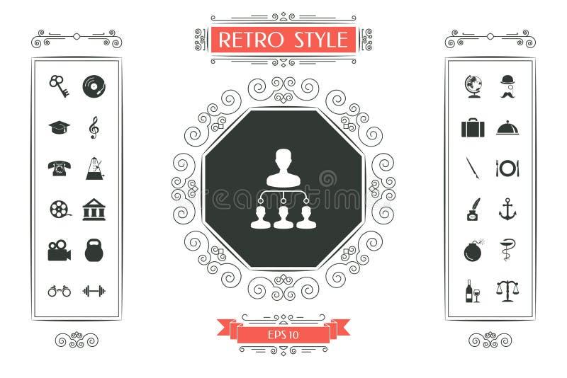 Symbole d'icône de hiérarchie illustration libre de droits