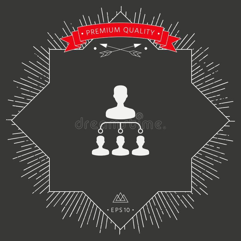 Symbole d'icône de hiérarchie illustration stock