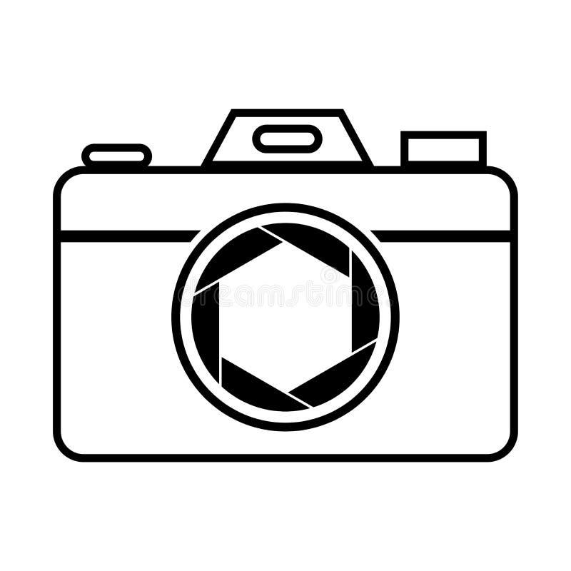 Symbole d'icône d'obturateur de caméra et vecteur de lame de volet illustration stock