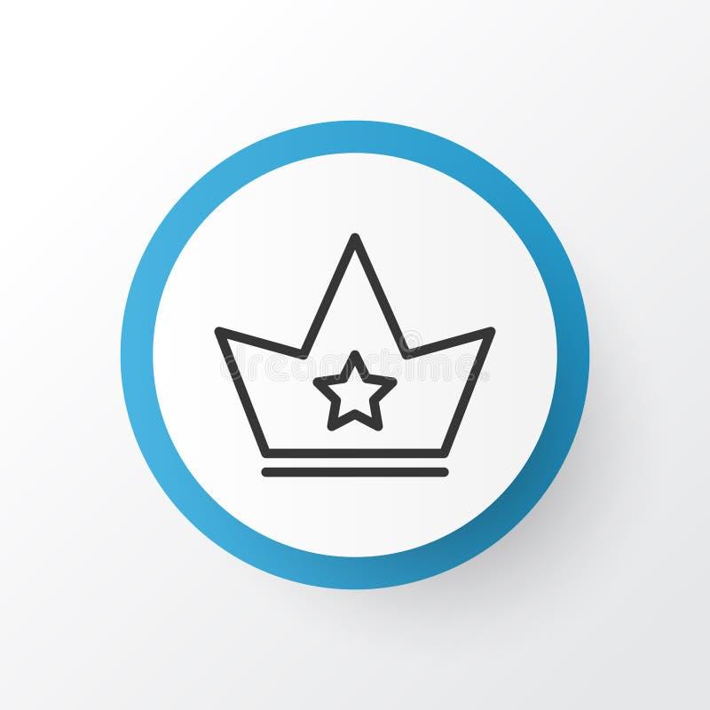 Symbole d'icône de couronne Corona Element In Trendy Style d'isolement par qualité de la meilleure qualité illustration de vecteur
