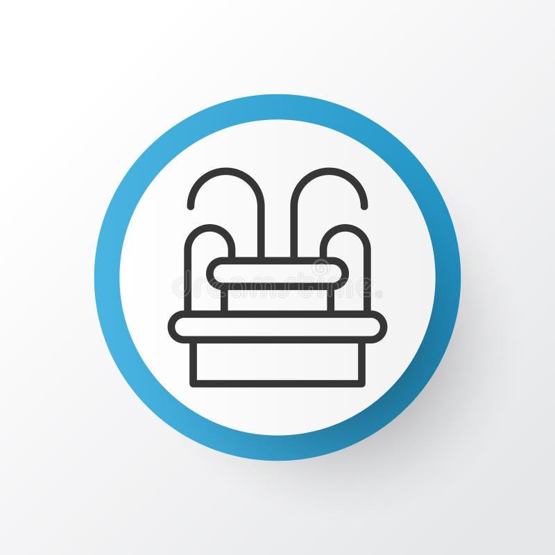 Symbole d'icône de fontaine Élément de monument de l'eau d'isolement par qualité de la meilleure qualité dans le style à la mode illustration stock