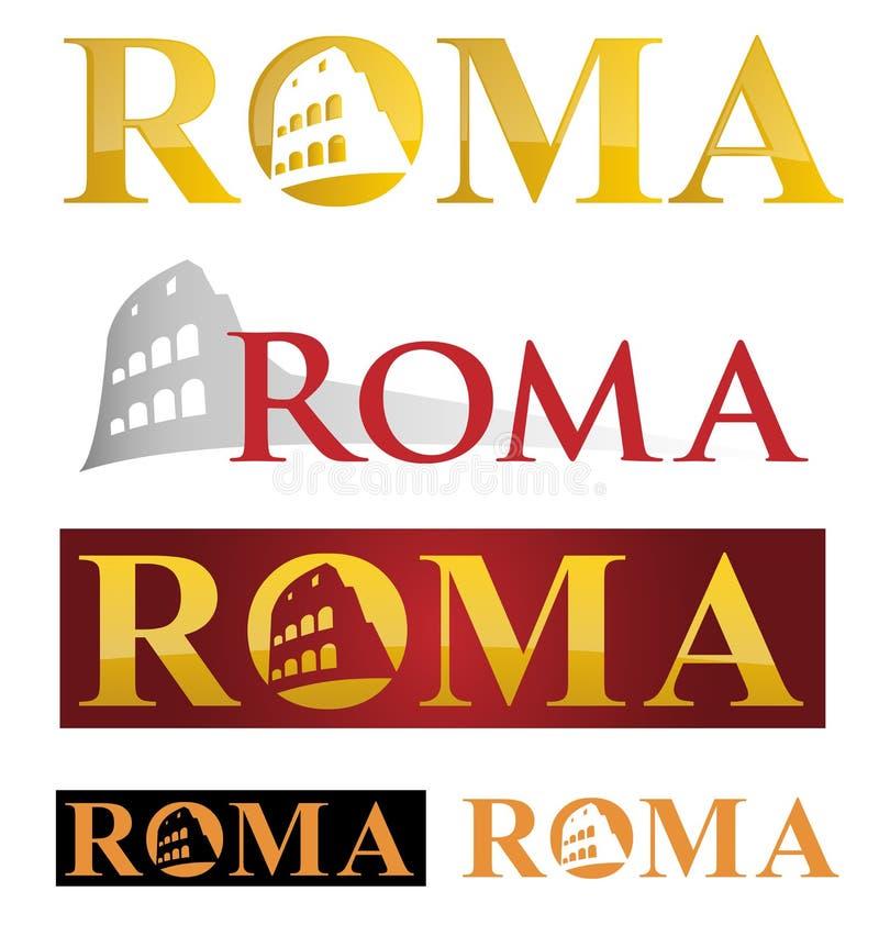 Symbole d'icône de Rome illustration de vecteur