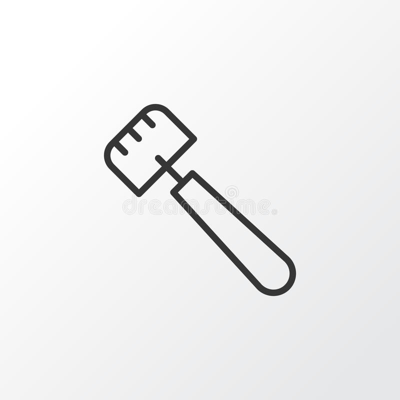 Symbole d'icône de truelle Élément de spatule d'isolement par qualité de la meilleure qualité dans le style à la mode illustration de vecteur