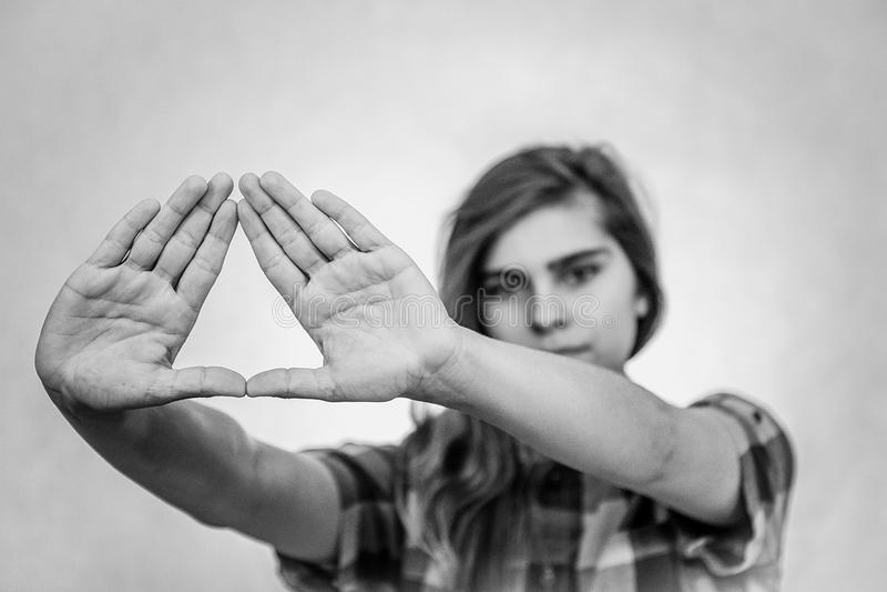 Symbole d'Illuminati photographie stock libre de droits