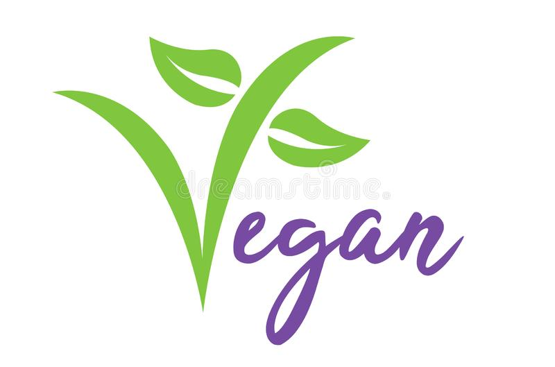 Symbole d'illustration de vecteur de Vegan illustration libre de droits