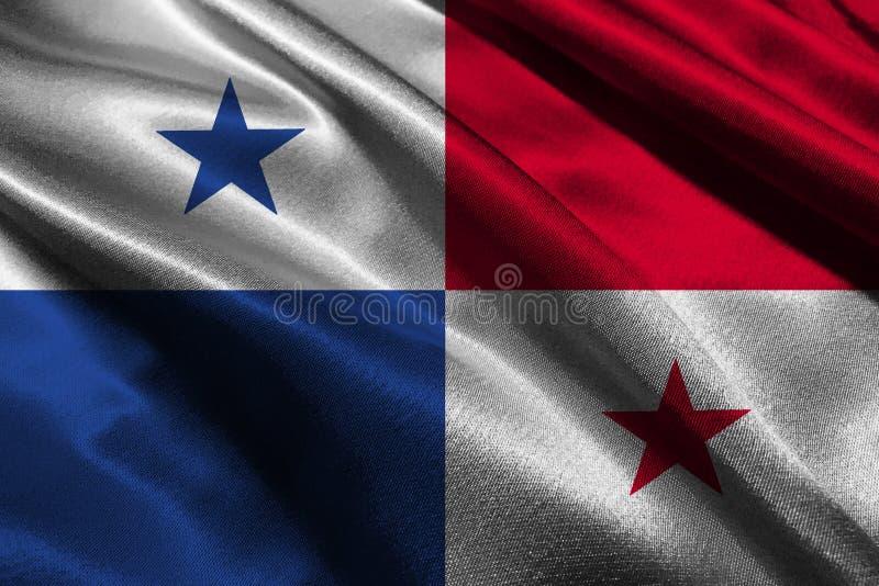 Symbole d'illustration du drapeau 3D du Panama Drapeau du Panama image libre de droits