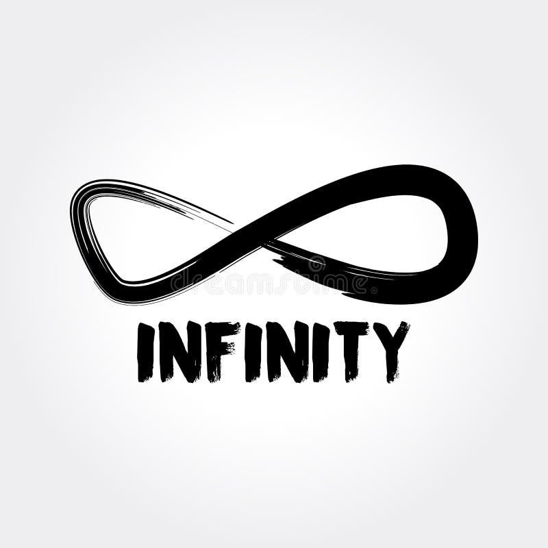 Symbole d'infini Logo Concept tiré par la main illustration stock