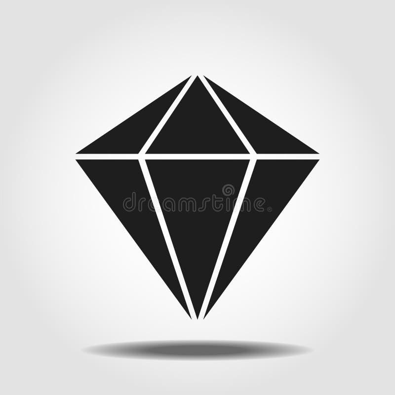 Symbole d'isolement d'ic?ne de min?ralogie sur le fond propre ?l?ment de diamant de vecteur dans le style ? la mode illustration de vecteur