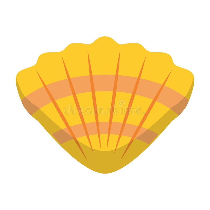 Symbole d'isolement par bande dessinée de molusk de mer de Shell illustration de vecteur