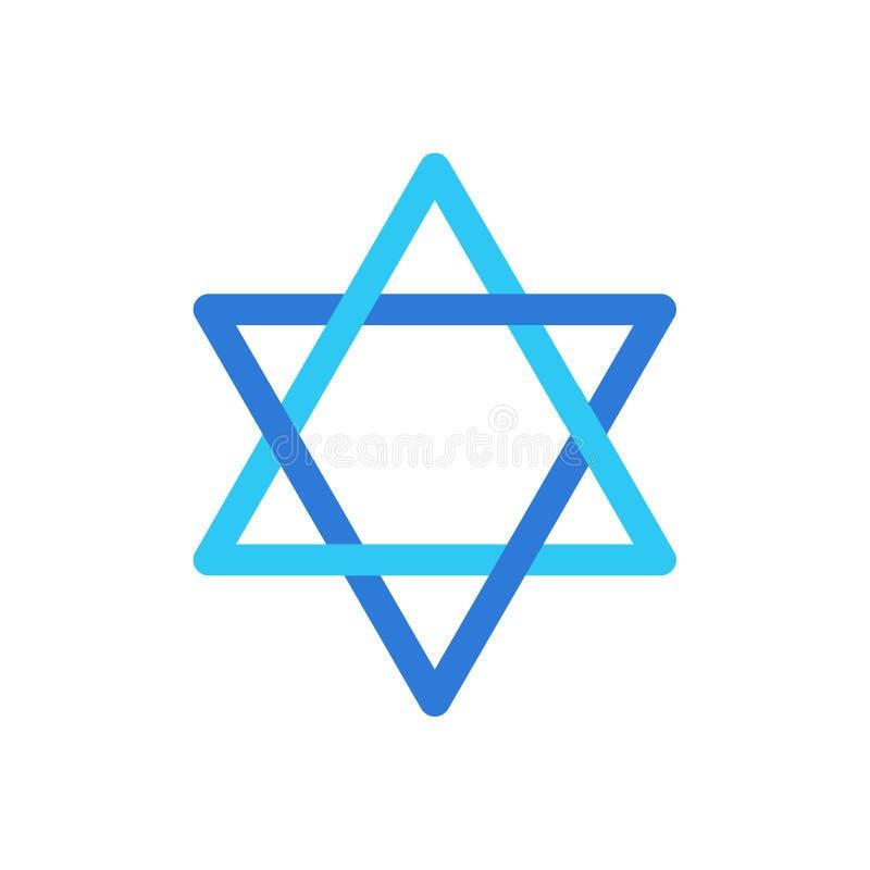 Symbole d'Israélien de logo d'étoile du ` s de David de papier peint d'étoile de l'Israël illustration libre de droits