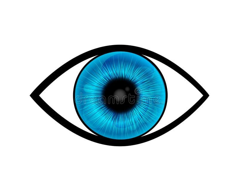 Symbole d'oeil bleu illustration stock