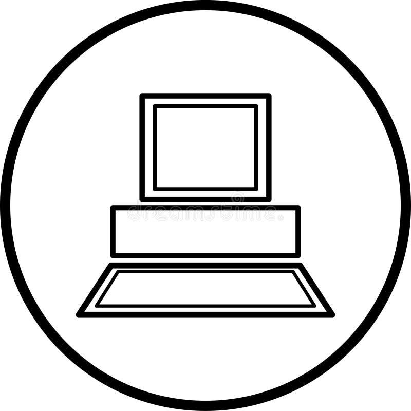 Symbole d'ordinateur illustration stock