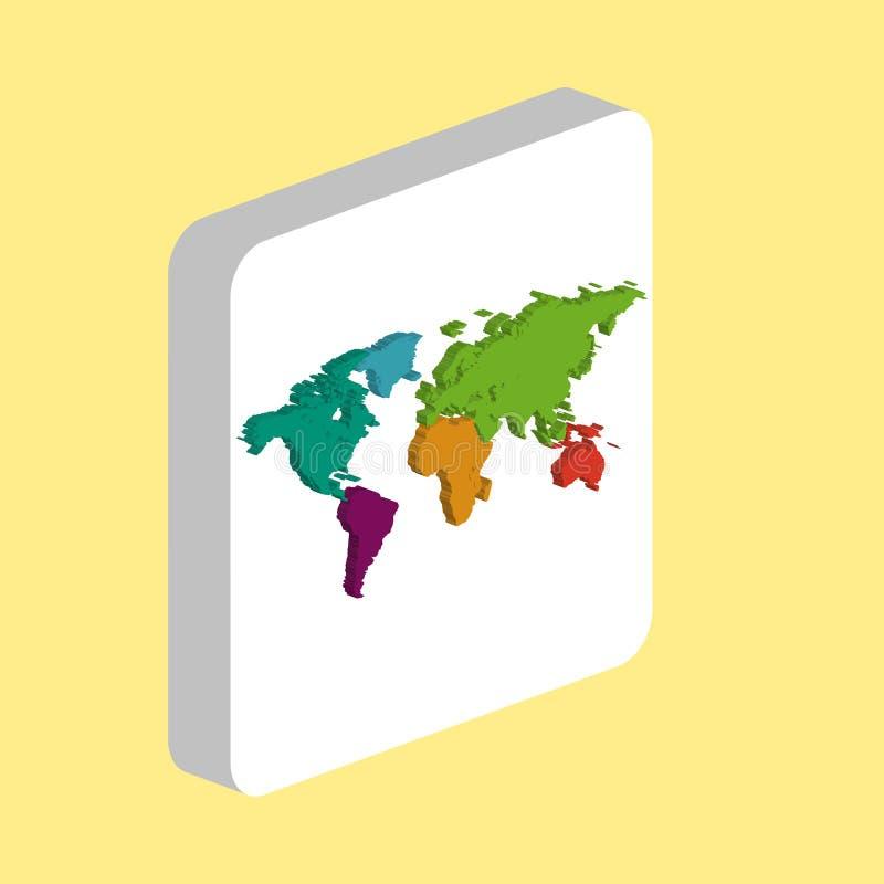Symbole d'ordinateur de carte du monde illustration libre de droits