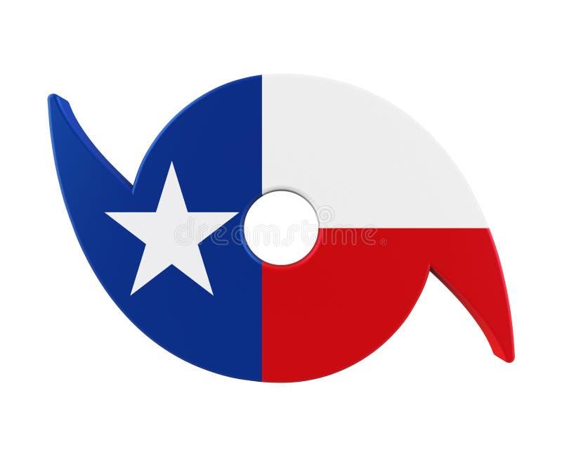 Symbole d'ouragan avec Texas State Flag illustration de vecteur