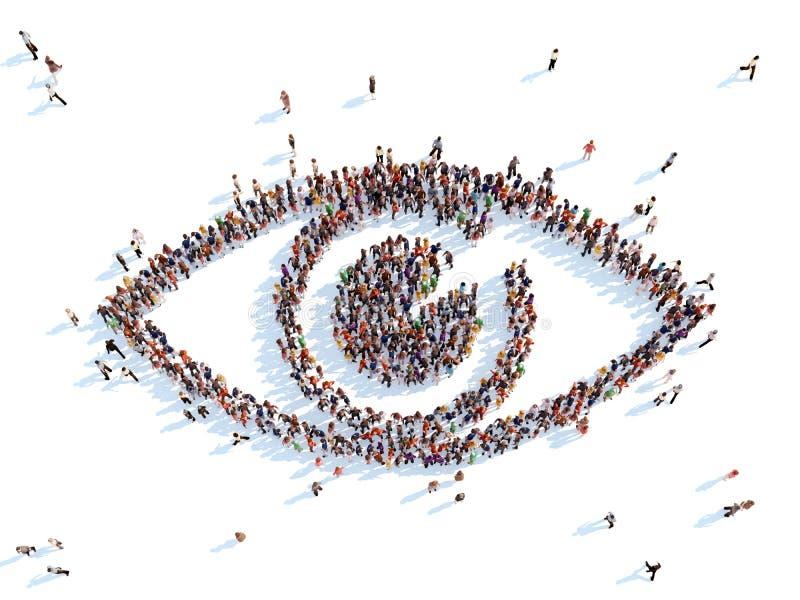 Symbole d'un oeil illustration libre de droits