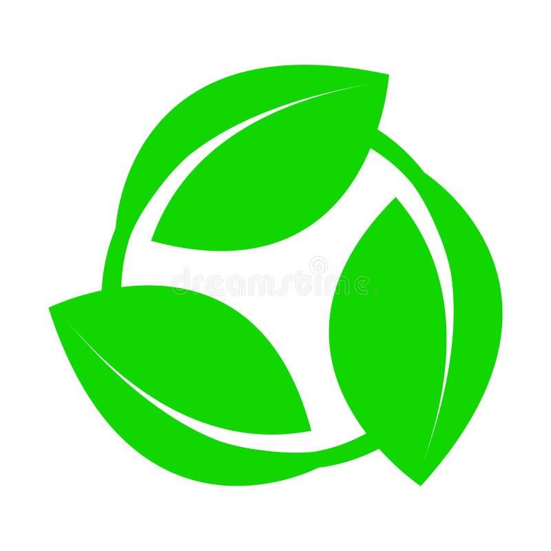 Symbole d'un produit écologique ou rapidement dégradable qui ne nuit pas à l'environnement illustration libre de droits