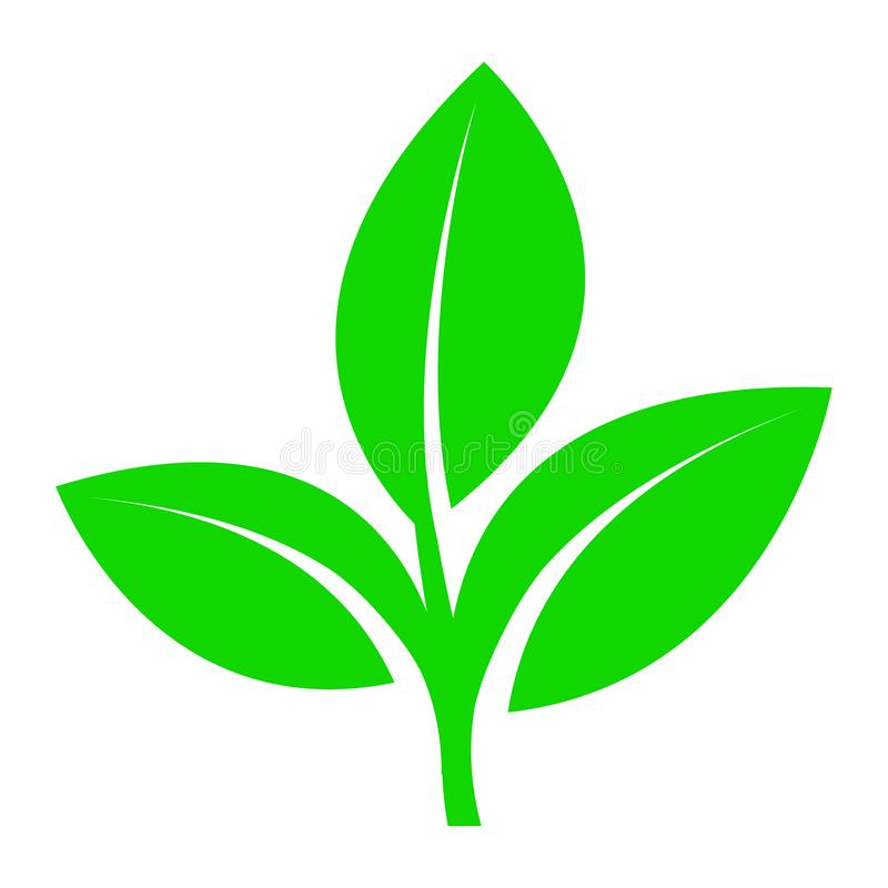 Symbole d'un produit écologique ou rapidement dégradable qui ne nuit pas à l'environnement illustration stock