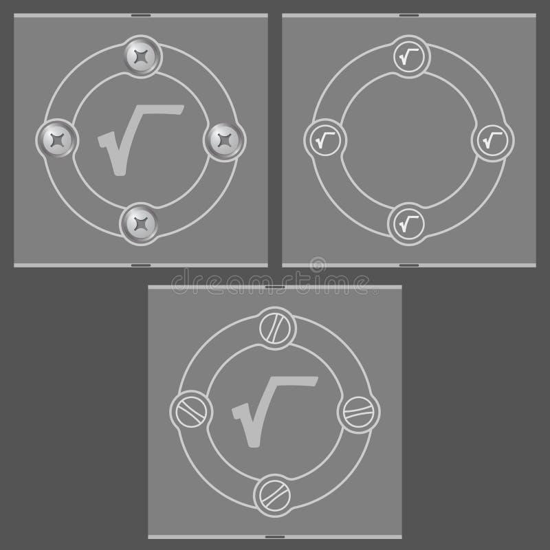 symbole de base illustration stock