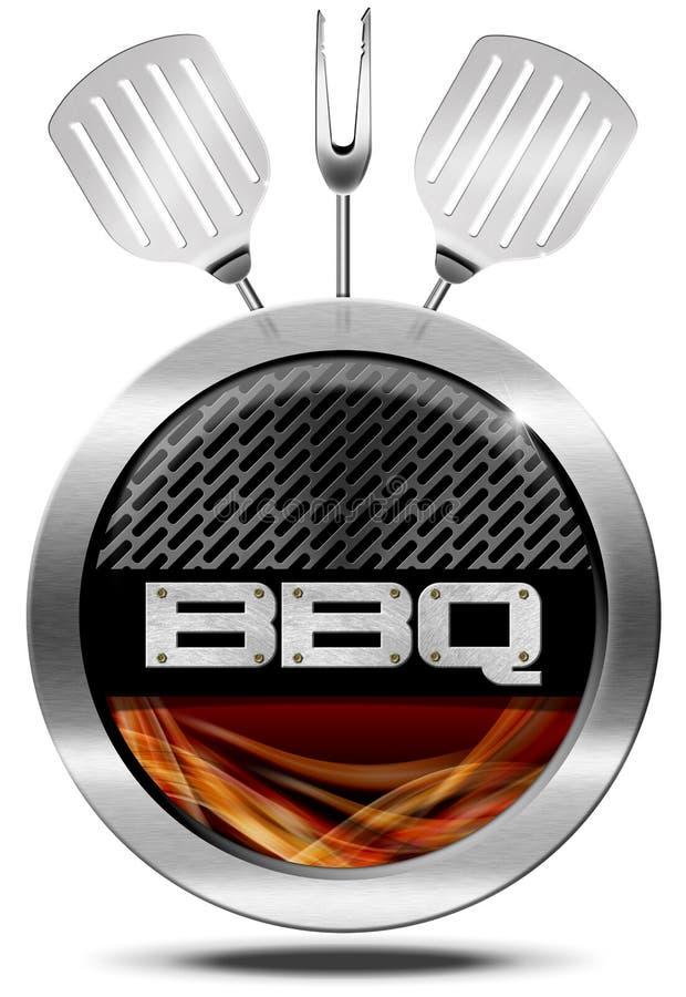 Symbole de BBQ - icône de barbecue illustration libre de droits