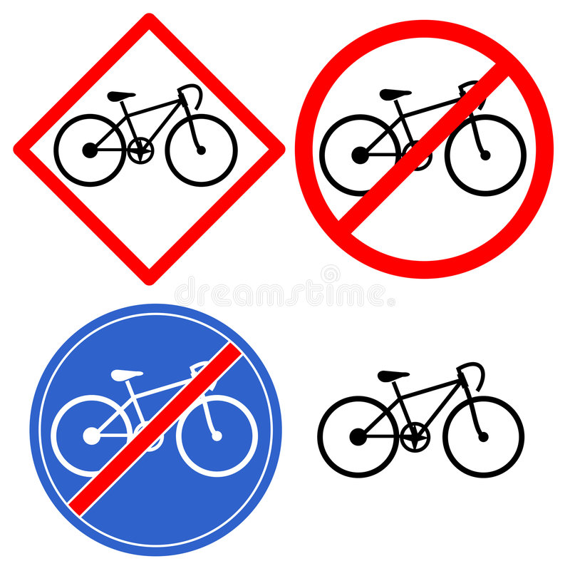 Symbole de bicyclette illustration stock