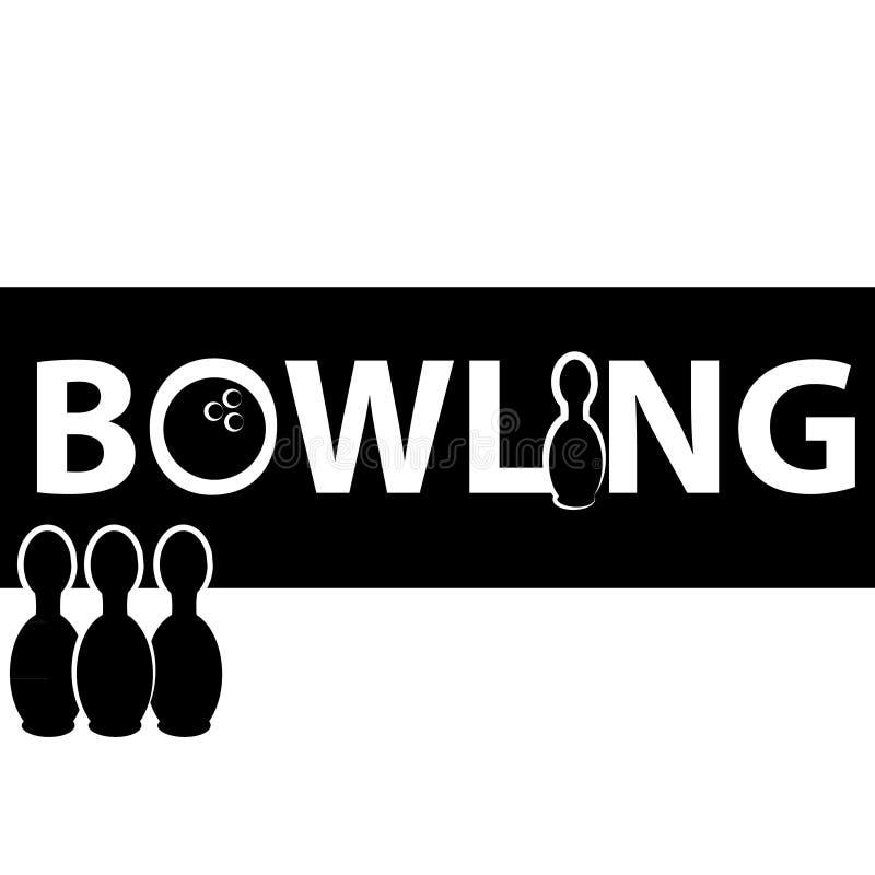Symbole de bowling d'isolement sur le fond blanc illustration libre de droits