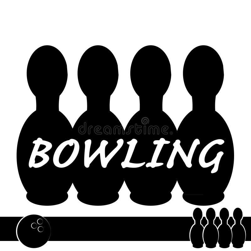 Symbole de bowling d'isolement sur le fond blanc illustration stock