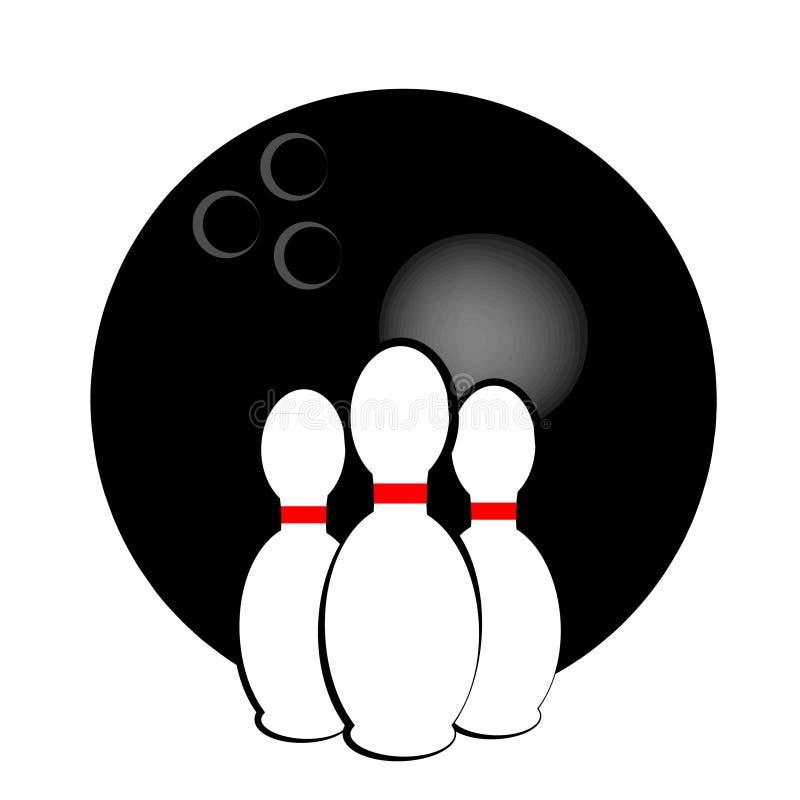 Symbole de bowling d'isolement sur le fond blanc Illustration de vecteur illustration libre de droits