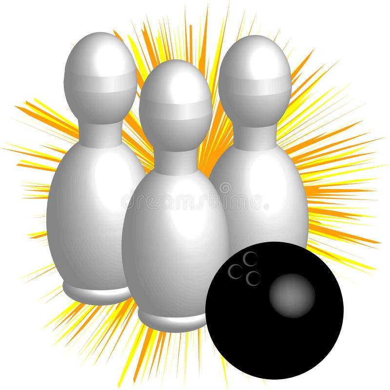 Symbole de bowling d'isolement sur le fond blanc Illustration de vecteur illustration stock