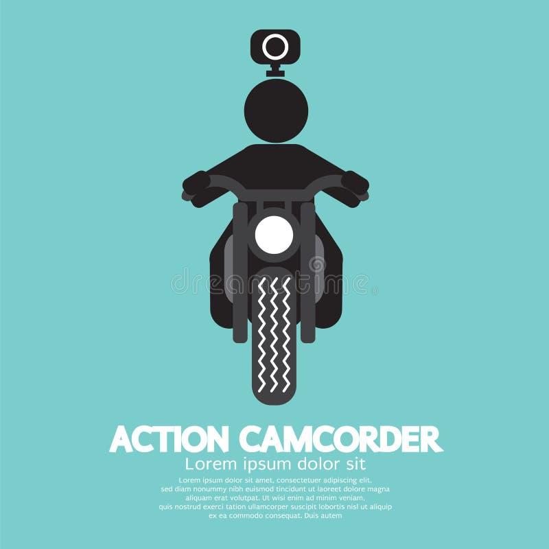 Symbole de caméscope d'action illustration de vecteur