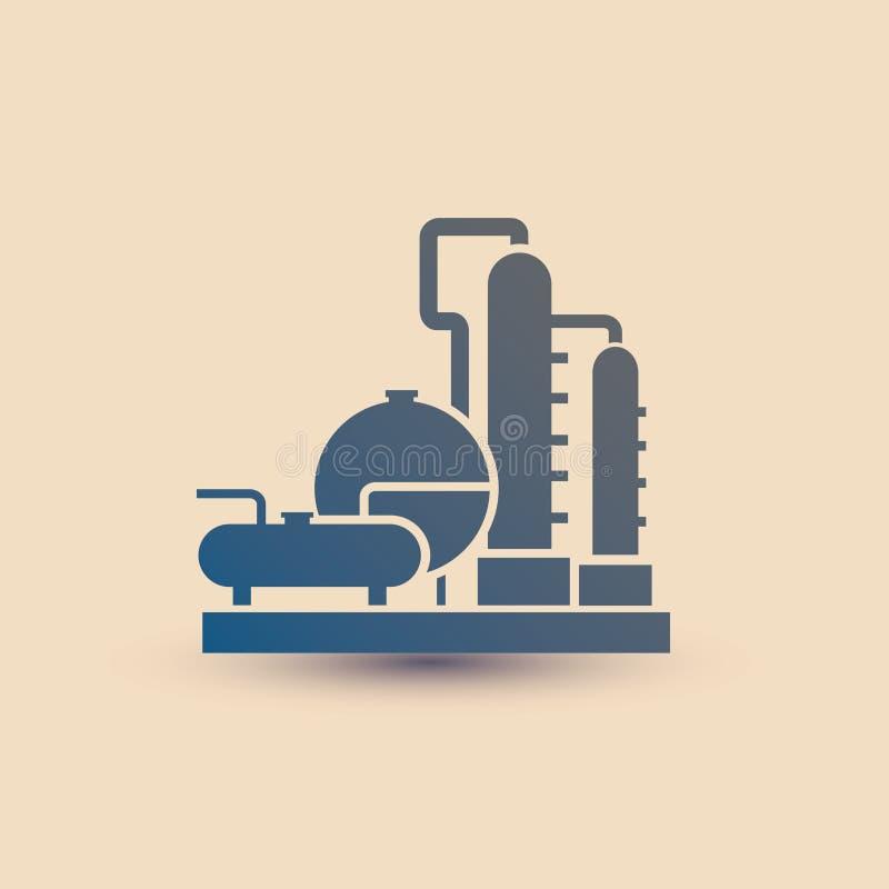 Symbole de centrale pétrochimique, raffinerie illustration libre de droits