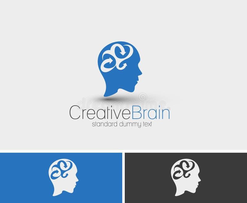 Symbole de cerveau créatif illustration de vecteur