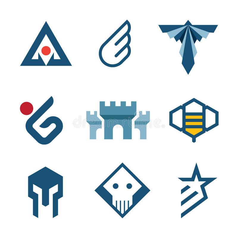 Symbole de château de logo de style d'histoire de Moyen Âge d'icône de force illustration de vecteur