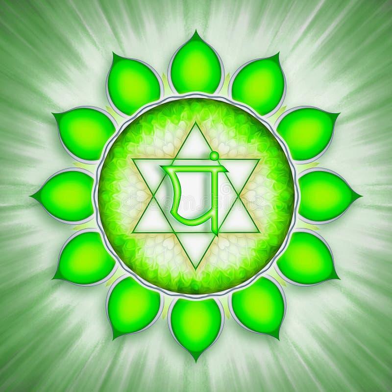 Symbole de Chakra de coeur illustration stock