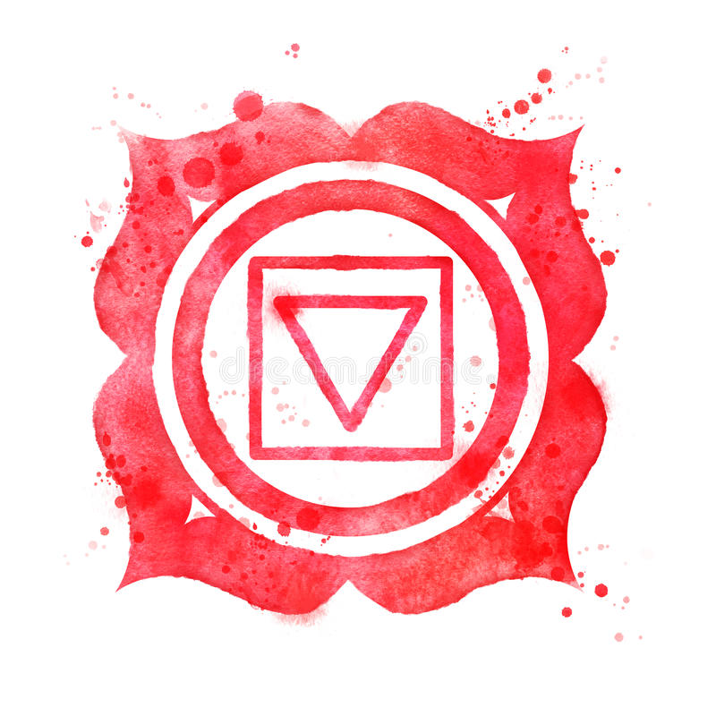 Symbole de chakra de Muladhara illustration de vecteur