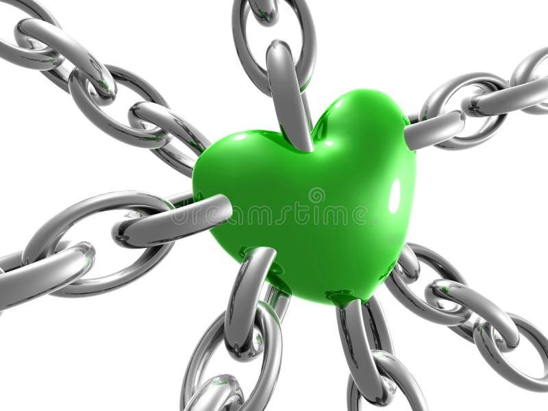 Symbole de coeur d'amour sur le réseau illustration libre de droits