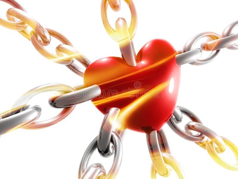 Symbole de coeur d'amour sur le réseau illustration stock