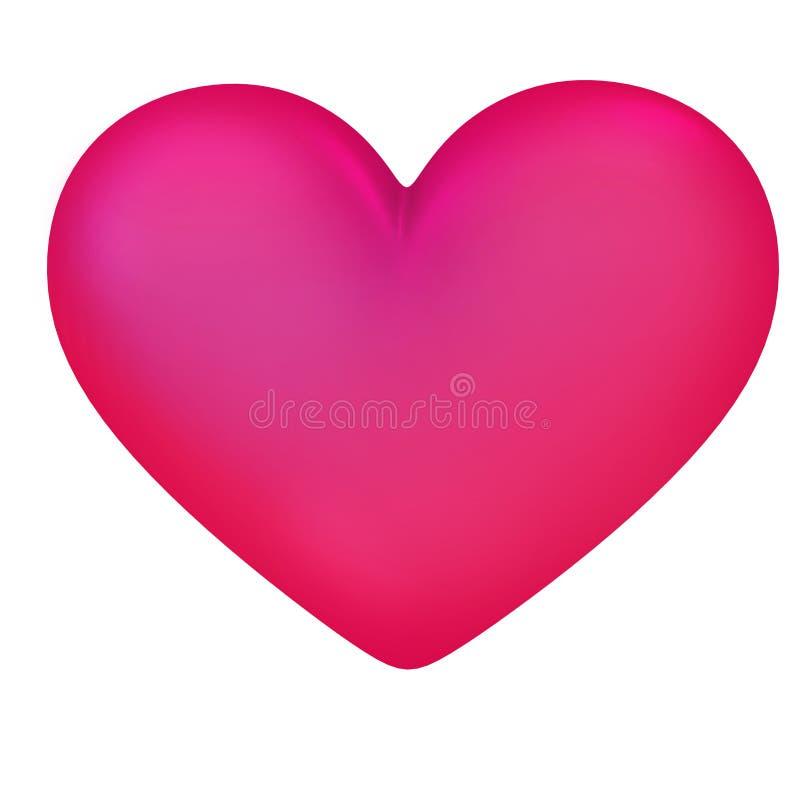 Symbole de coeur pourpre sur un fond blanc images stock