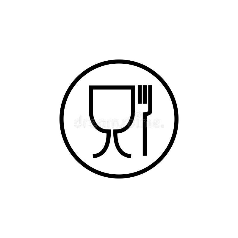 Symbole de coffre-fort de nourriture Non approprié à l'icône de nourriture Aucun symbole de catégorie comestible Illustration de  illustration libre de droits