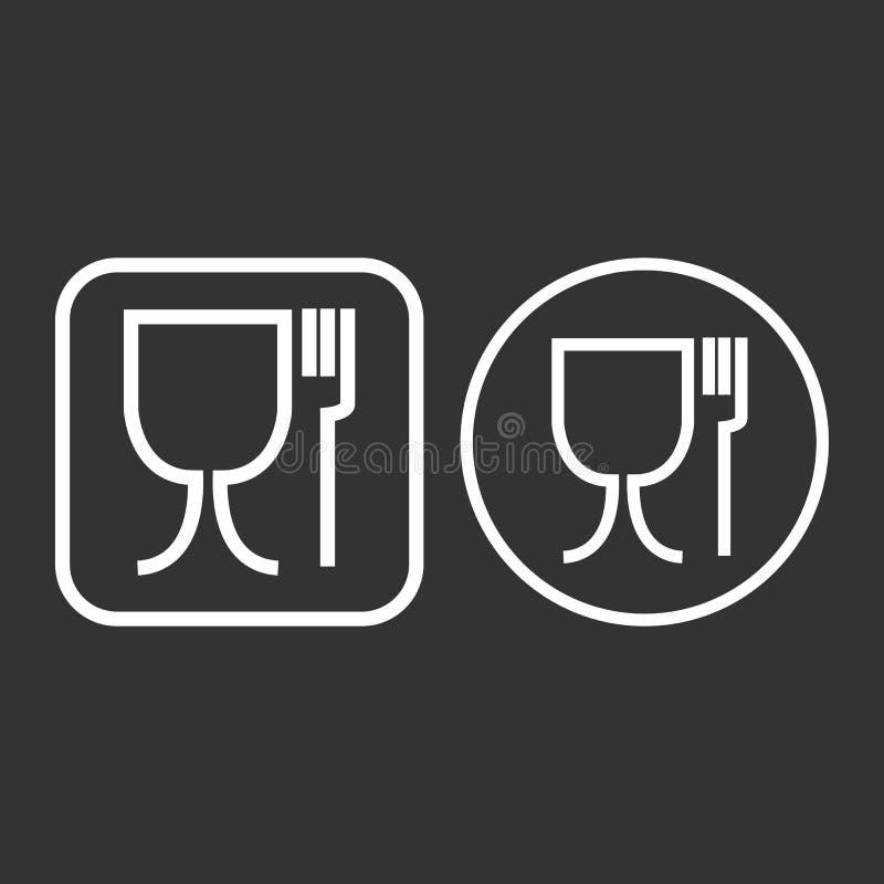 Symbole de coffre-fort de nourriture Non approprié à l'icône de nourriture Aucun symbole de catégorie comestible Illustration de  illustration de vecteur