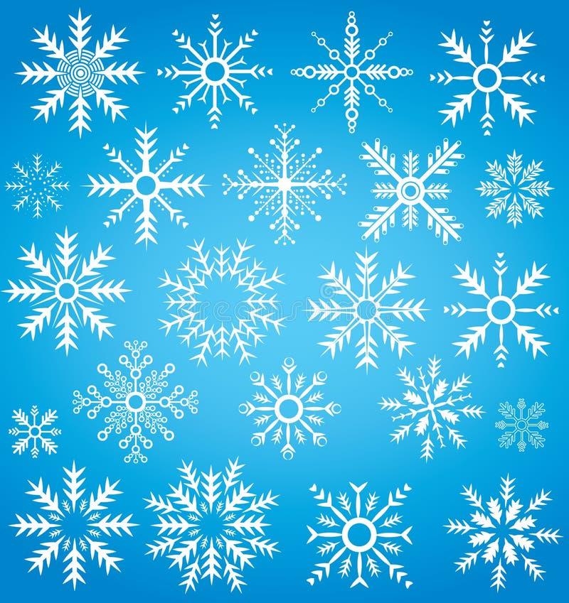 Download Symbole De Collection De Flocon De Neige D'hiver Illustration Stock - Illustration du lated, cercle: 45372238