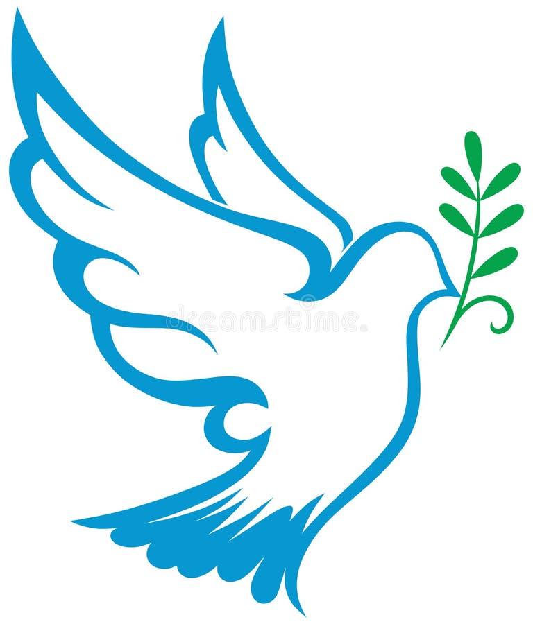 Symbole de colombe de vecteur illustration stock