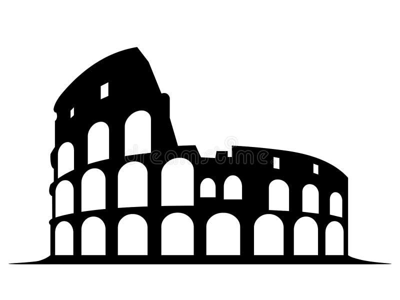 Symbole de Colosseum à Rome Italie sur le fond blanc illustration de vecteur