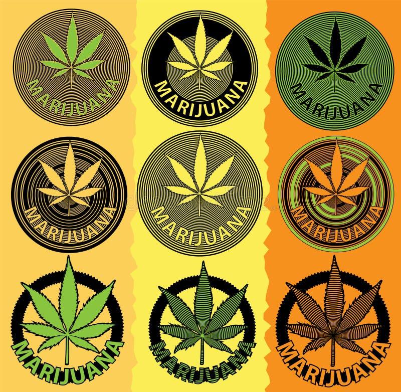 Download Symbole De Conception De Feuille De Cannabis De Marijuana Illustration Stock - Illustration du vous, drogue: 45372193