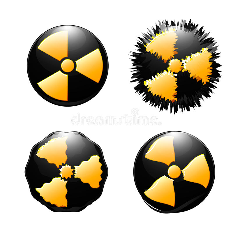 Symbole de contamination radioactive illustration de vecteur