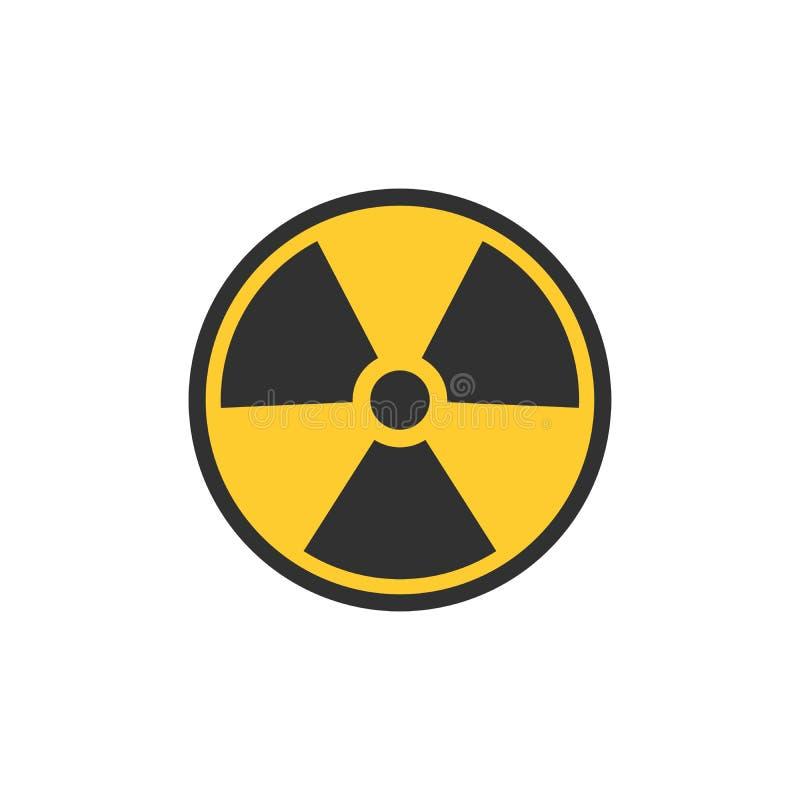 Symbole de contamination radioactive Signe nucléaire Risque de rayonnement Signal d'avertissement de rayonnement Illustration du  illustration de vecteur