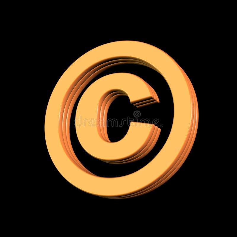 Symbole de copyright illustration stock