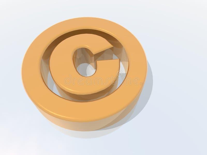 Symbole de copyright illustration de vecteur