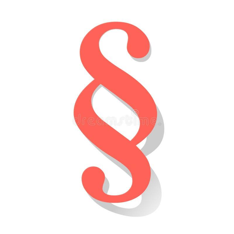 Symbole de corail de couleur de vecteur de paragraphe sur un fond blanc illustration stock