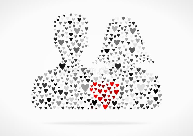 Symbole de couples illustration de vecteur